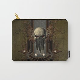 Amazing skull with wings Carry-All Pouch