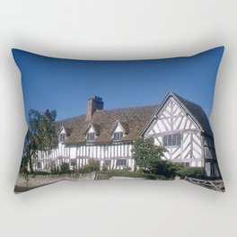 Mary Arden * 15th Century * England * 1950's * Vintage Photo * Travel Photography * Kodachrome Rectangular Pillow