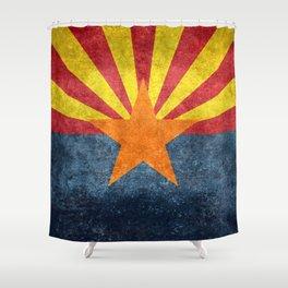 Flag of Arizona, Vintage Retro Style Shower Curtain