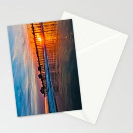 HB Sunsets - Sunset At The Huntington Beach Pier 3/10/16 Stationery Cards