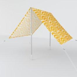 Japanese Seigaiha Wave – Marigold Palette Sun Shade
