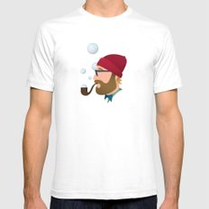 Soap bubble Hipster SMALL Mens Fitted Tee White