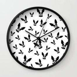 Chihuahua Black White Wall Clock