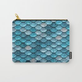 Luxury Turquoise Mermaid Sparkling Glitter Scales - Mermaidscales Carry-All Pouch