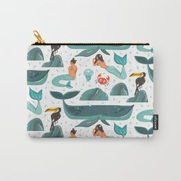 Mermaid pattern Carry-All Pouch