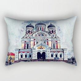 Alexander Nevsky Cathedral Tallinn Rectangular Pillow
