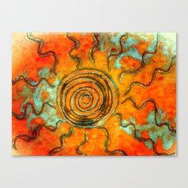 Southwest Sun Burst Canvas Print