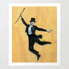 top hat and tails Art Print