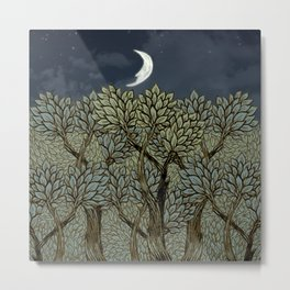 Night Forest Metal Print