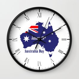 Happy Australia Day Wall Clock