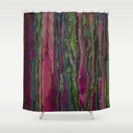 Spellbinding Impasse (Bioluminescent Field) Shower Curtain