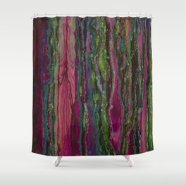 Spellbinding Impasse (Bioluminescent Field) Shower Curtain