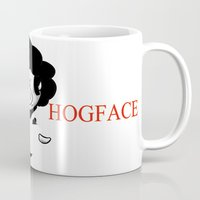 scarface Mugs featuring Hogface by Afro Pig