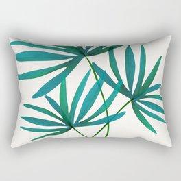 Fan Palm Fronds / Tropical Plant Illustration Rectangular Pillow