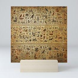 Ancient Egyptian Hieroglyphics Mini Art Print