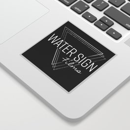 Water Sign Logo Sticker