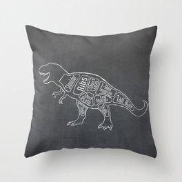 Tyrannosaurus, Rex Dinosaur (A.K.A. T REX) Butcher Meat Diagram Throw Pillow