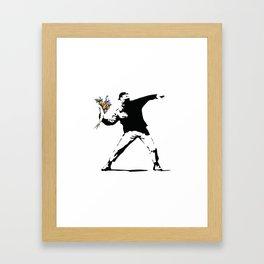 Banksy Flower Thrower Framed Art Print
