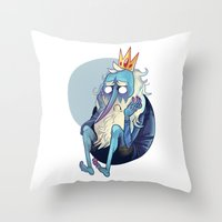musa Throw Pillows featuring sadking by musa