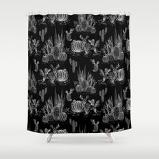 Watercolor cactuses print Shower Curtain