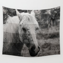 GreyScale Horse Wall Tapestry
