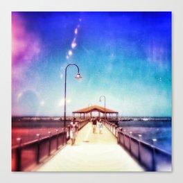 Pier Photo - A Stroll Along the Jetty Art Print Canvas Print