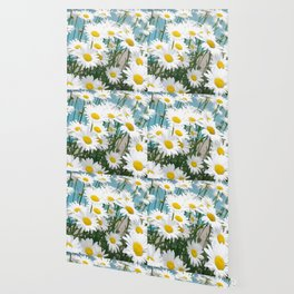 Daisies flowers in painting style 5 Wallpaper