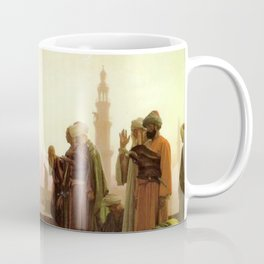 Islamic Masterpiece 'Prayer in Cairo' cityscape rooftop prayer portrait by Jéan Leon Gerome Coffee Mug