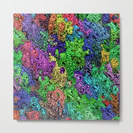 Colorful Chaotic Abstract Metal Print