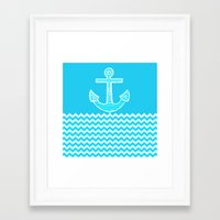anchor Framed Art Prints featuring Anchor by haroulita