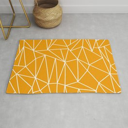 Geometric Cobweb (White & Orange Pattern) Rug