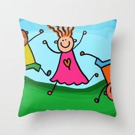 Make me happy ! Throw Pillow