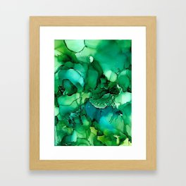 Into the Depths of Sea Green Mysteries Framed Art Print
