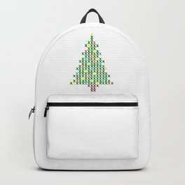 Cross Stitch Christmas Tree Backpack