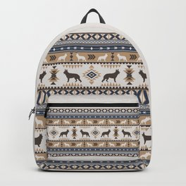 Boho dogs | German shepherd pattern tan Backpack