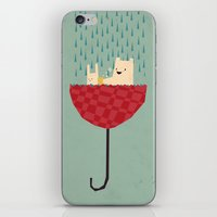 umbrella iPhone & iPod Skins featuring umbrella bath time! by Yetiland