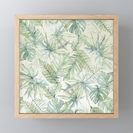 Green Tropical Leaves Framed Mini Art Print
