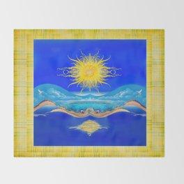 Sacred Sun Throw Blanket