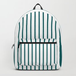 Forget Me Not Blue Pinstripe on White Backpack