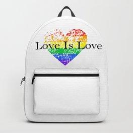 Love Is Love Rainbow Pride Heart 6 Backpack