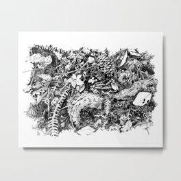 Inky Undergrowth Metal Print
