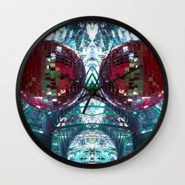 SHINY DISCO BALLS Wall Clock