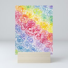 Rainbow Petals Mini Art Print