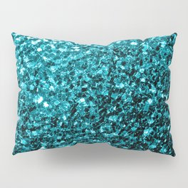 Beautiful Aqua blue glitter sparkles Pillow Sham
