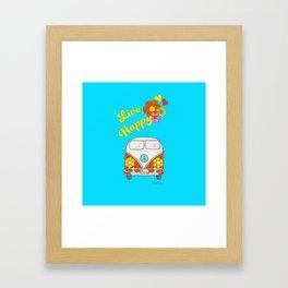 Live Happy Van Framed Art Print