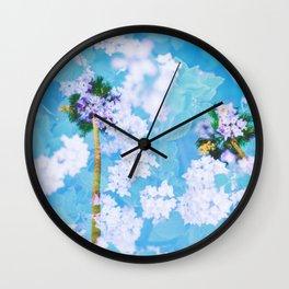 Palm Blossoms v2 Wall Clock