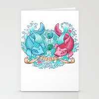 pisces Stationery Cards featuring Pisces by StudioBlueRoom
