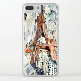 Robert Delaunay Eiffel Tower Clear iPhone Case