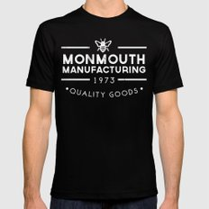 monmouth manufacturing white Mens Fitted Tee SMALL Black