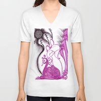 romance V-neck T-shirts featuring Romance by Gina Miranda Art